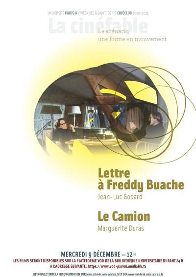 CINE-CLUB MERCREDI 09.12 : Lettre à Freddy Buache + Le Camion